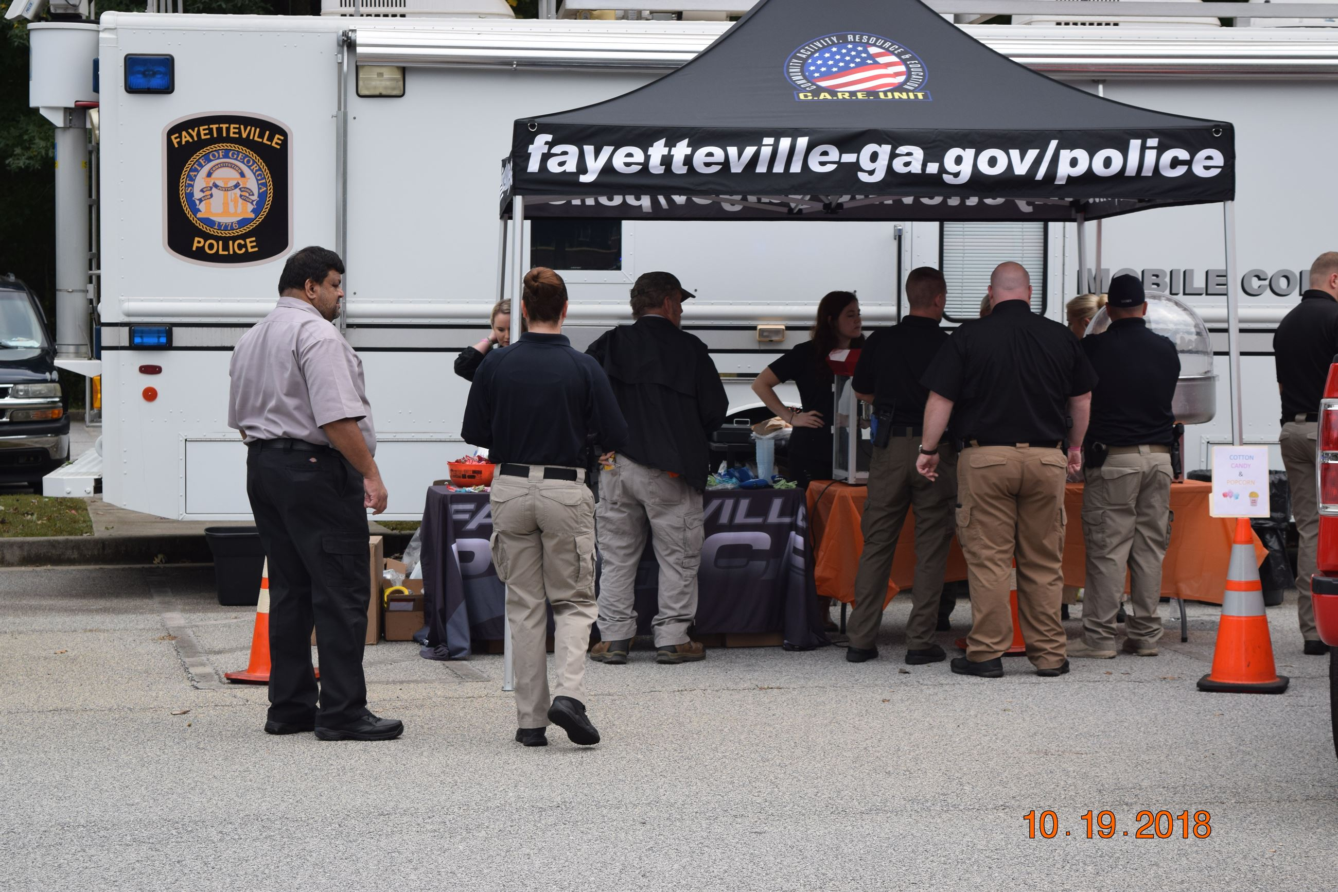 Fayetteville Police Department booth