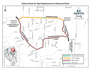 Detour Map-Kenwood Road