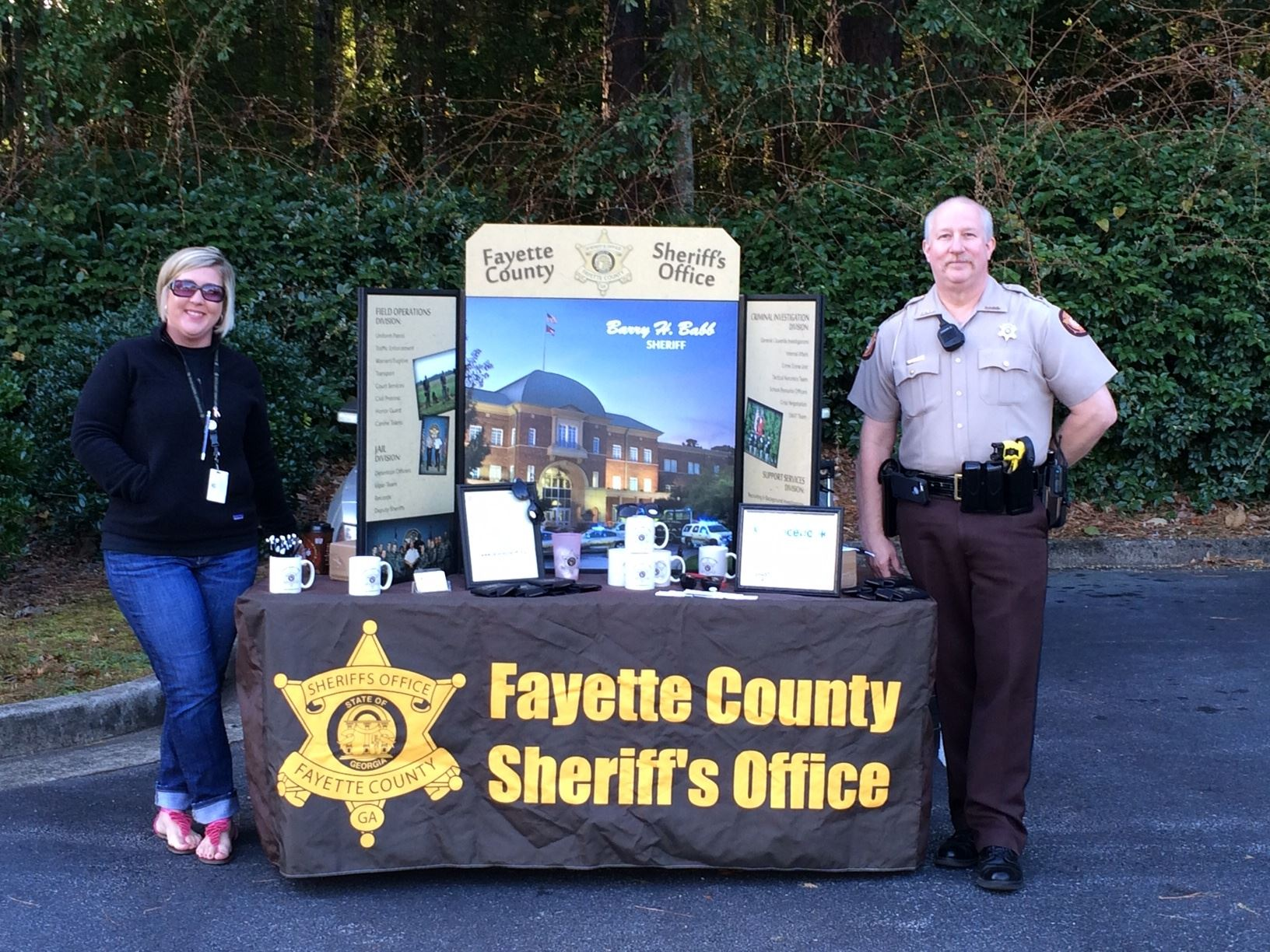 Fayette County Sheriffs Office Table with two People